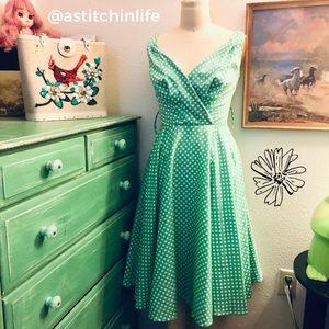 Grace Karin Polka Dot Rockabilly Swing Dress